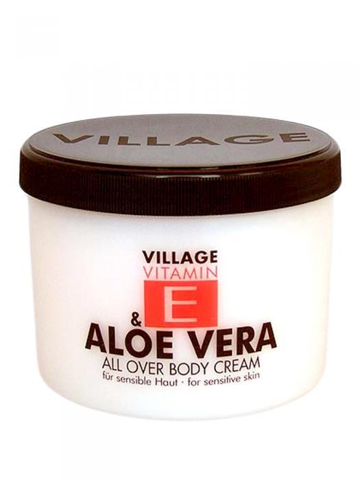 Crema De Corp VILLAGE COSMETICS Cu Vitamina E Si Aloe Vera-500 ml