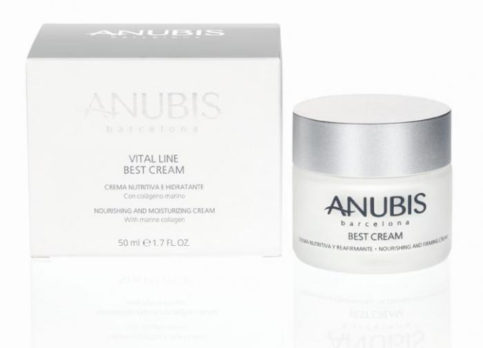 Crema de Fata ANUBIS Vital Line BEST Cream cu Colagen Marin 50 ml