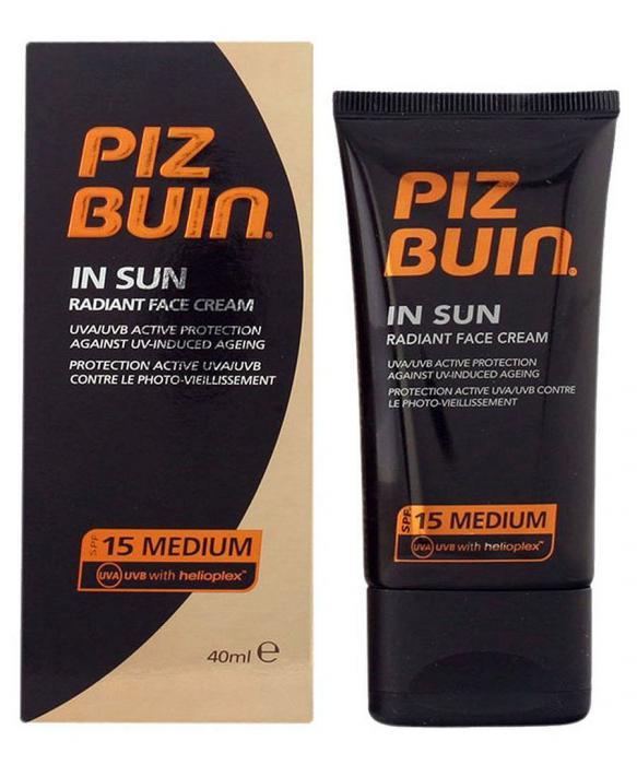 Crema de Fata Piz Buin In Sun Radiant Cream cu SPF 15 40 ml