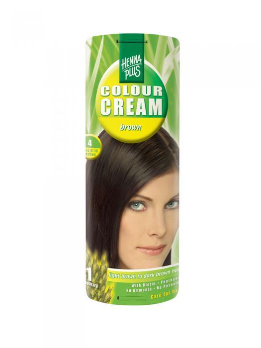 Crema Nuantatoare De Par Hennaplus Colour Cream Brown 4