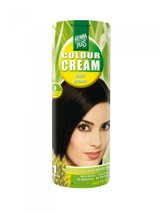 Crema Nuantatoare de Par HennaPlus Colour Cream - Dark Brown 3