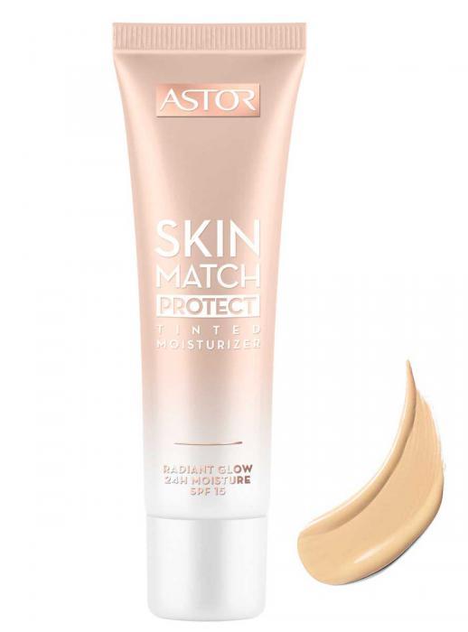 Baza De Machiaj Astor Skin Match Protect Tinted 001 Light Medium