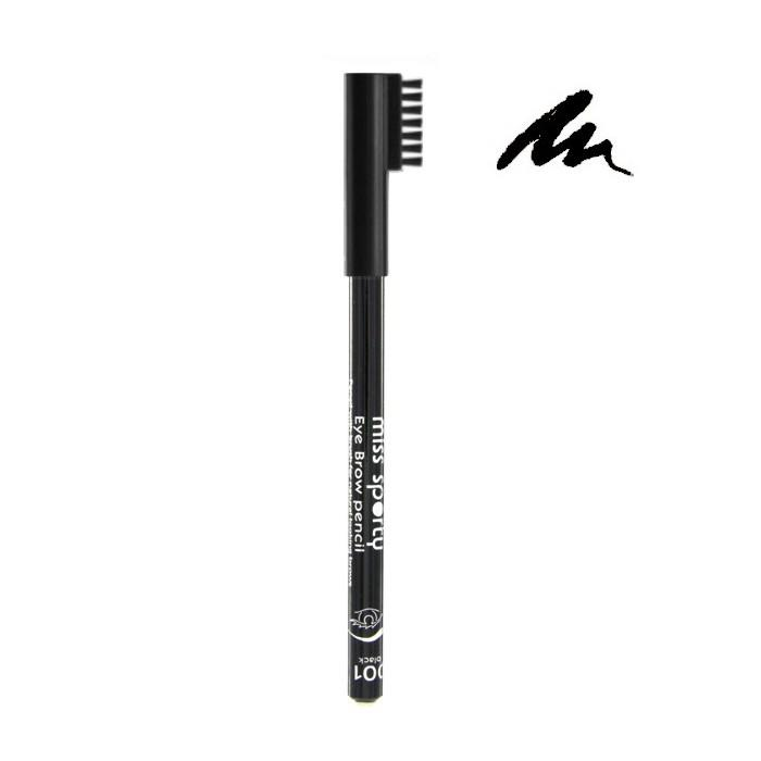 Creion de Sprancene Miss Sporty Brow - 001 Black-big