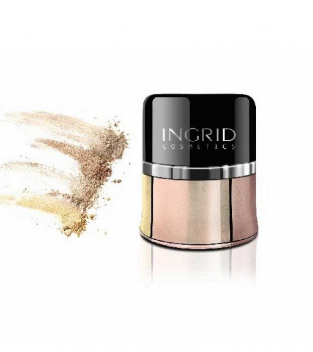 Fard Pulbere Iluminator Ingrid Cosmetics Loose Pearl Eyeshadow - 07