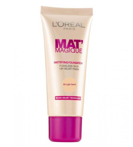 Fond de Ten L OREAL Mat Magique Mattifying 03 Light Sand 25ml