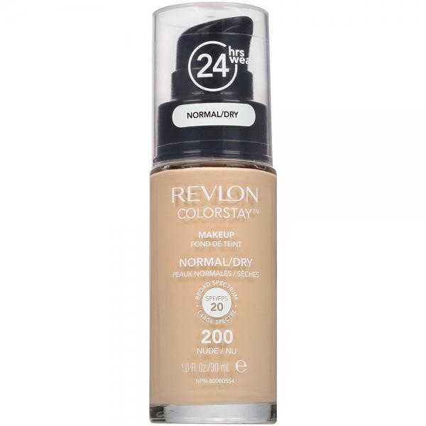Fond De Ten Revlon Colorstay Dry Skin Cu Pompita 200 Nude 30 ml