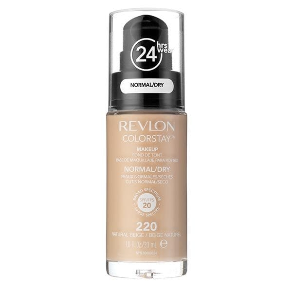 Fond De Ten Revlon Colorstay Dry Skin Cu Pompita 220 Natural Beige 30ml