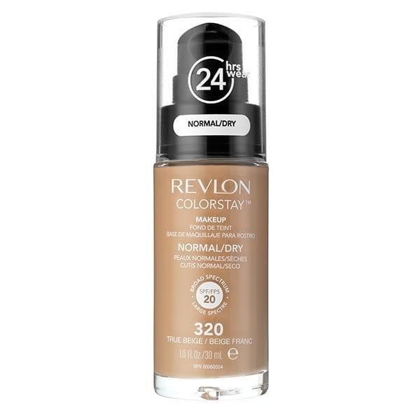 Fond De Ten Revlon Colorstay Dry Skin Cu Pompita 320 True Beige 30ml