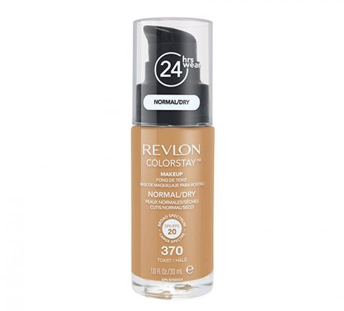 Fond De Ten Revlon Colorstay Dry Skin Cu Pompita 370 Toast 30ml