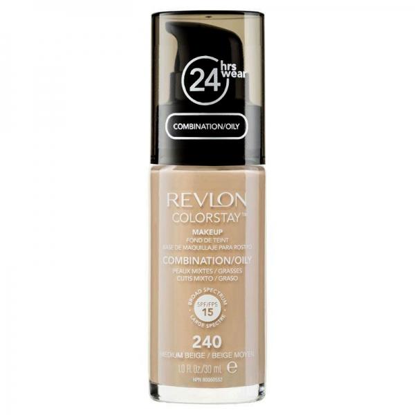 Fond De Ten Revlon Colorstay Oily Skin Cu Pompita 240 Medium Beige 30ml