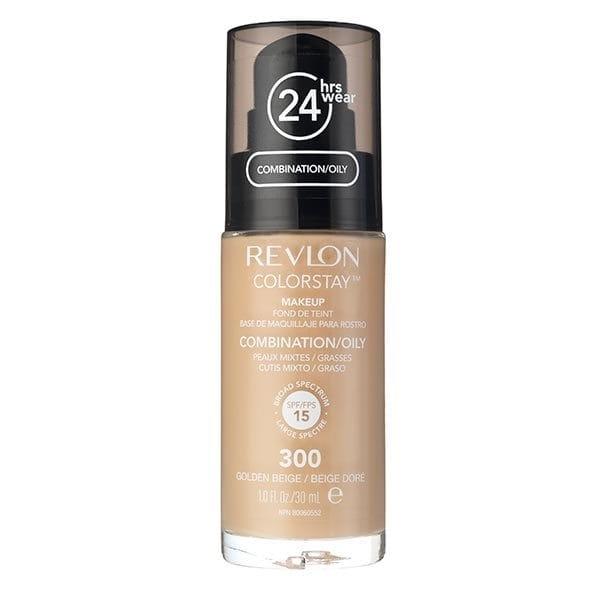 Fond De Ten Revlon Colorstay Oily Skin Cu Pompita 300 Golden Beige 30ml