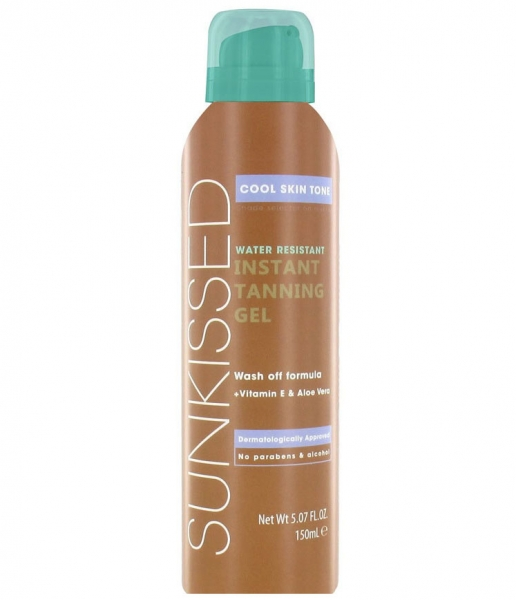 Gel Autobronzant Sunkissed Instant Tanning Gel Cool Skin Tone 150 ml