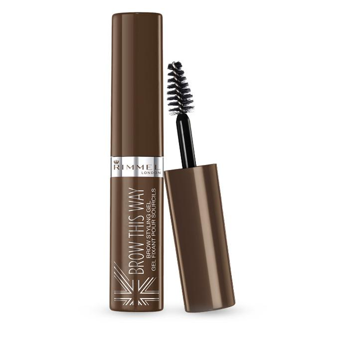 Gel Pentru Sprancene Rimmel Brow This Way 002 Medium Brown