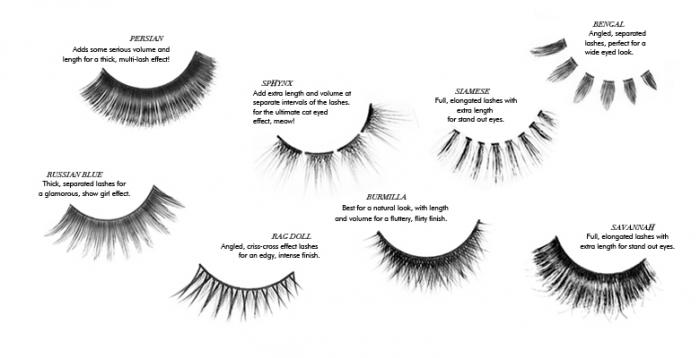 Gene False Sleek Eyelashes cu Adeziv - Bengal-big