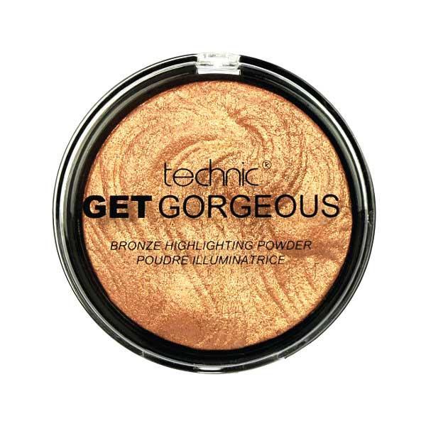 Iluminator cu particule aurii Technic Get Gorgeous Highlighting Powder 24CT Gold 12g