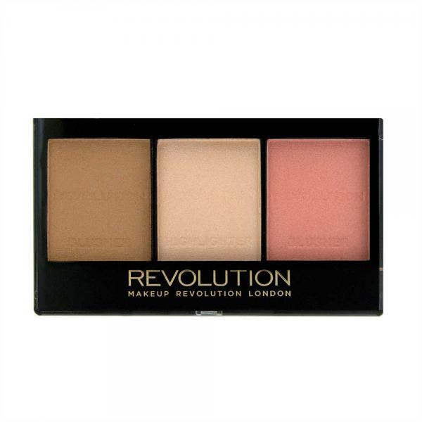 Kit pentru iluminare conturare si evidentiere Makeup Revolution Ultra Sculpt Contour Kit Ultra Fair C01 3x3.6g