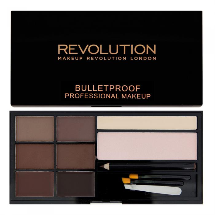 Kit Complet Pentru Sprancene Makeup Revolution Ultra Brow Medium To Dark