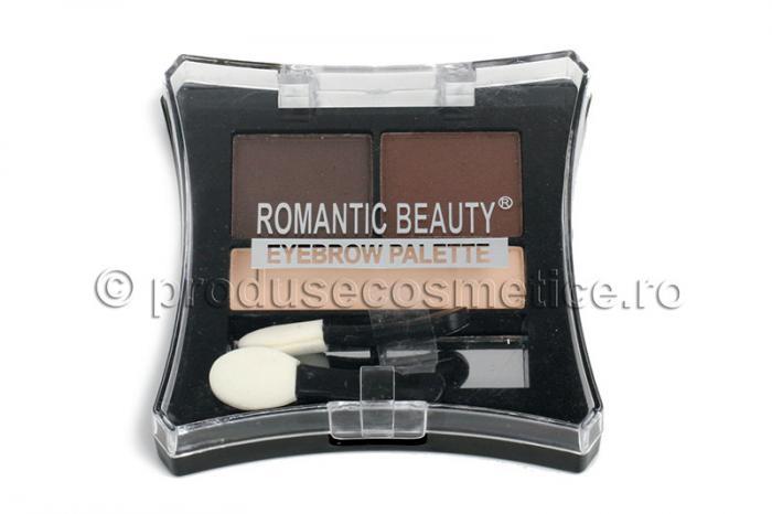 Kit De Sprancene Romantic Beauty Cu 3 Pudre Pentru Definire 02 Mediu