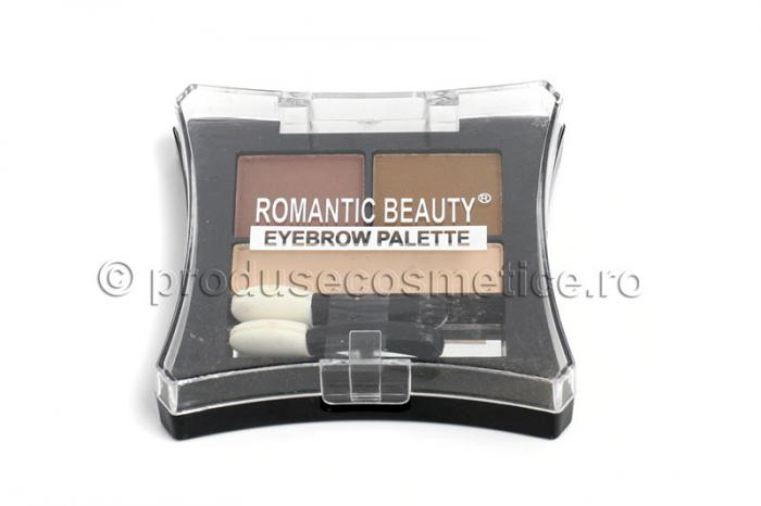 Kit de Sprancene Romantic Beauty cu 3 Pudre pentru Definire 03 Light