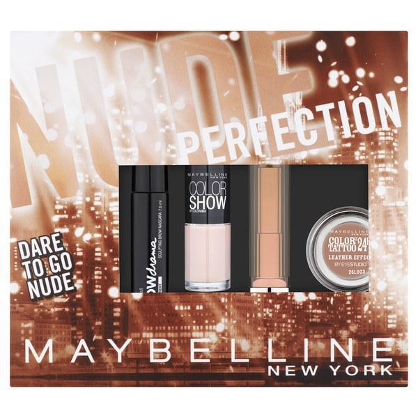 Kit cu 4 Produse Pentru Makeup Maybelline Dare To Go Nude Perfection