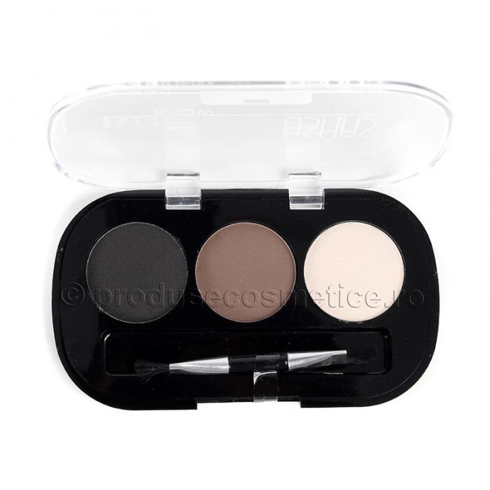Kit de Sprancene Ushas EyeBrow cu 3 Pudre pentru Definire 01 Combo