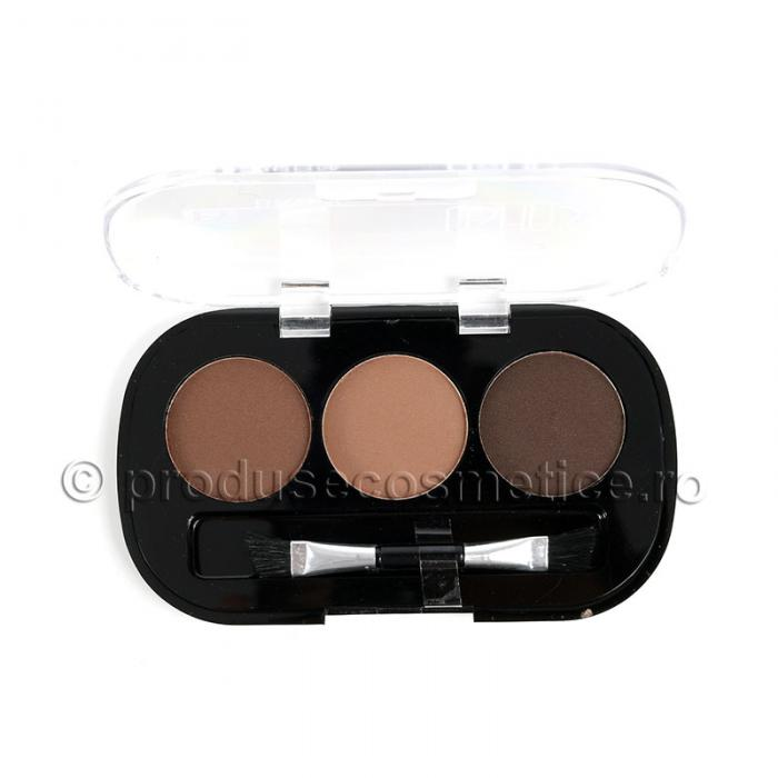 Kit de Sprancene Ushas EyeBrow cu 3 Pudre pentru Definire - 03 Medium