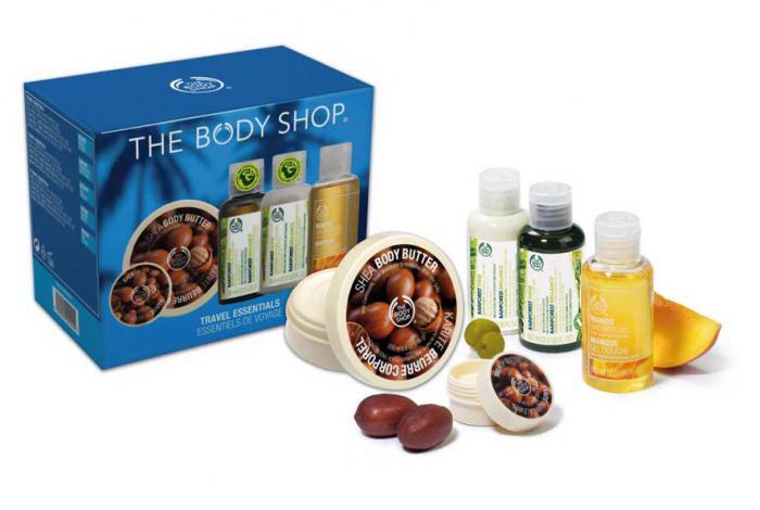 Kit The Body Shop Travel Essentials cu 5 produse pentru calatorii