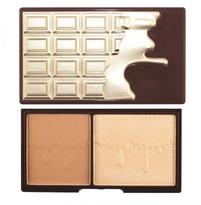 Paleta pentru conturare iluminare si bronz MAKEUP REVOLUTION I Heart Makeup Bronze and Glow