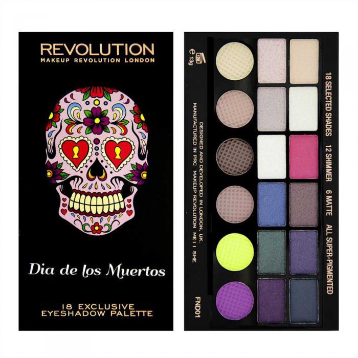 Paleta Profesionala de Farduri MAKEUP REVOLUTION Dia de los Muertos