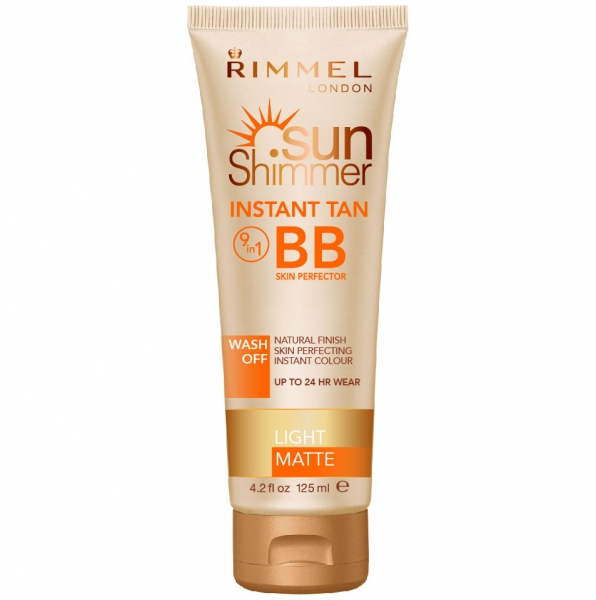 Lotiune Autobronzanta Rimmel Sun Shimmer Instant Tan BB 9 In 1 Wash Off Light Matte 125 ml