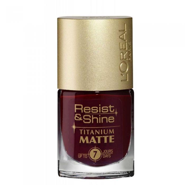 Oja L'oreal Resist & Shine Titanium Matte - 501 M