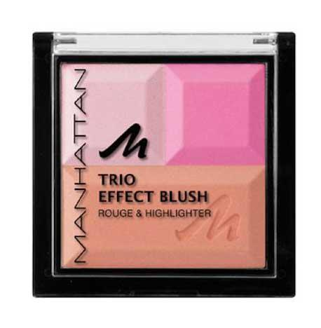 Paleta Bronzanta Iluminatoare MANHATTAN Trio Effect Pink Cupcake