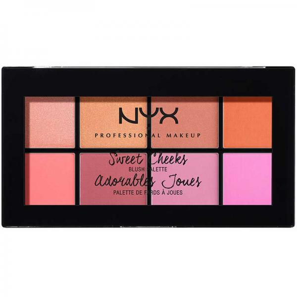 Paleta farduri de obraz NYX Professional Makeup Sweet Cheeks Blush Palette 8x3.5g