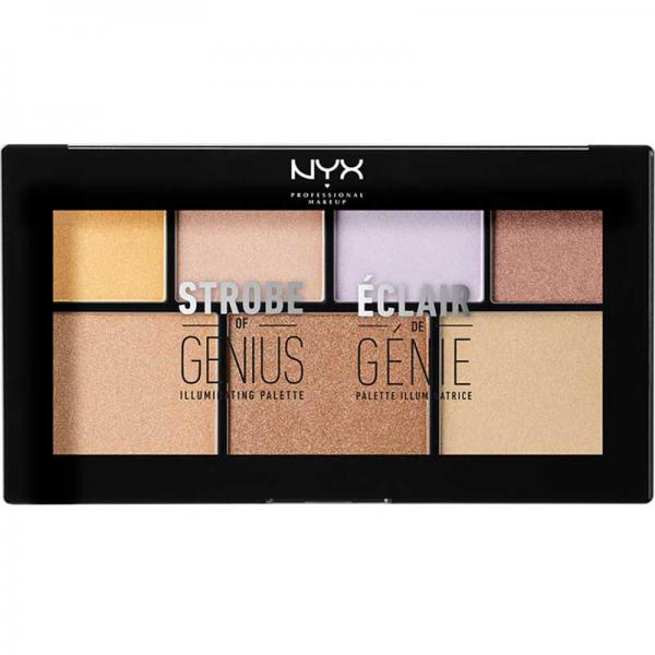 Paleta iluminatoare NYX Professional Makeup Strobe of Genius Illuminating Palette 7x2g
