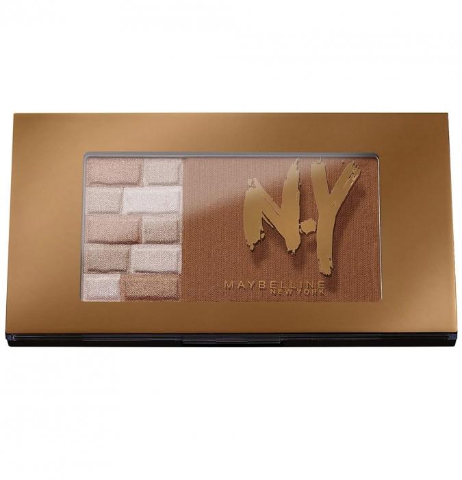 Paleta Pentru Bronz Si Iluminare Maybelline FaceStudio Bricks Bronzer 02 Brunettes 7 gr