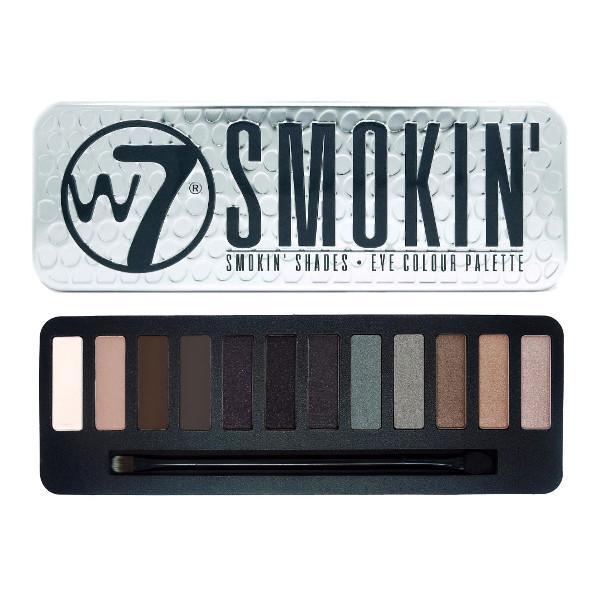 Trusa Profesionala cu 12 Farduri W7 Smokin Shades eye colour palette