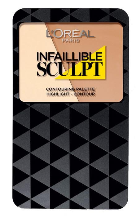 Paleta Pentru Conturarea Fetei L Oreal Infallible Sculpt 01 Light Medium