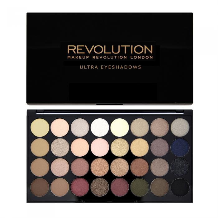 Paleta Profesionala Cu 32 Farduri Makeup Revolution Flawless