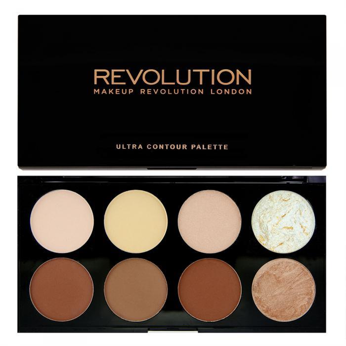 Paleta Pentru Contur Si Iluminare Makeup Revolution Ultra Contour
