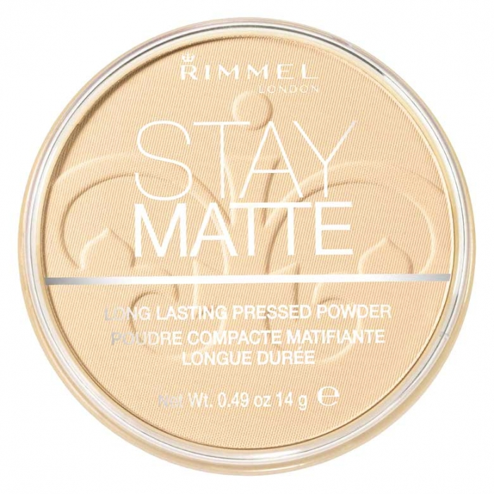 Pudra matifianta rezistenta la transfer RIMMEL Stay Matte 003 Peach Glow 14g