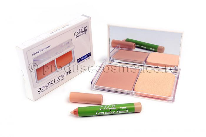 Pudra Compacta Si Creion Corector MeNow Generation II All Day Long 06