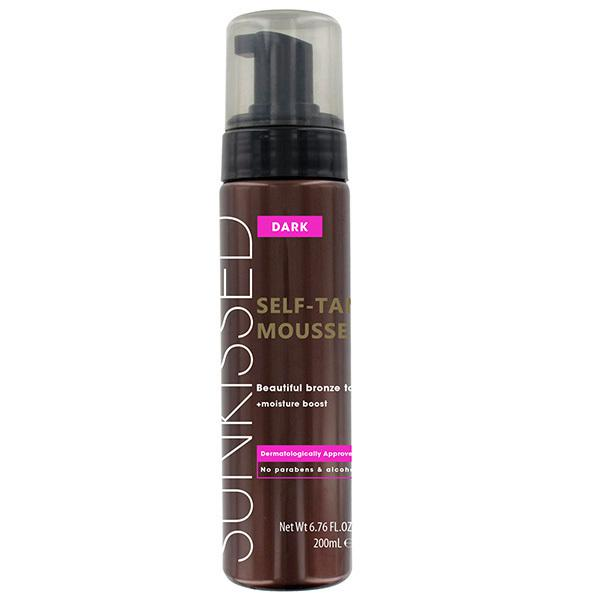Spuma Autobronzanta Profesionala Sunkissed Self Tan Mousse Dark 200ml