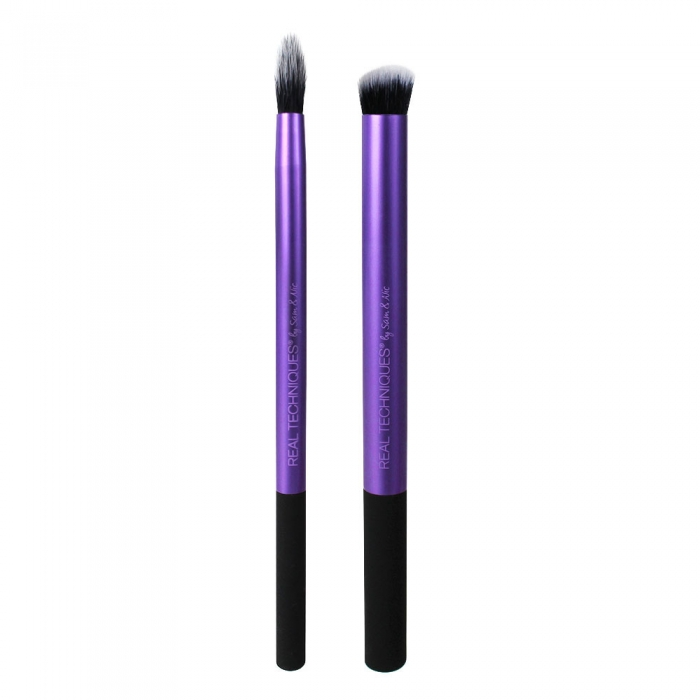 Real Techniques Eyes Perfect Crease Duo Set Cu 2 Pensule Profesionale Pentru Machiajul Ochilor