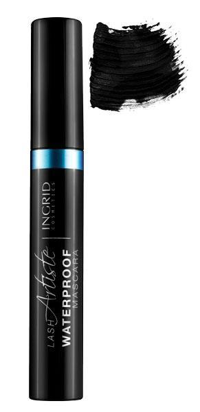Rimel Profesional cu silicon Ingrid Lash Artiste Waterproof Negru