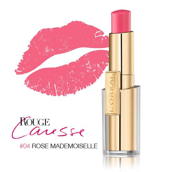 Ruj L'oreal Caresse - 04 Rose Mademoiselle-big