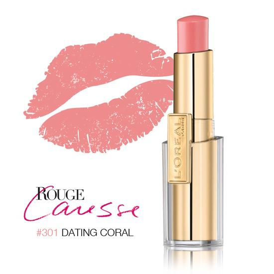 Ruj L'oreal Caresse - 301 Dating Coral-big