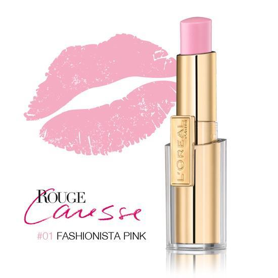 Ruj L oreal Caresse 01 Fashionista Pink