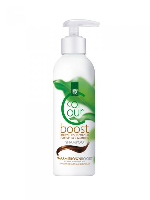 Sampon HennaPlus Colour Boost Warm Brown - 200 ml