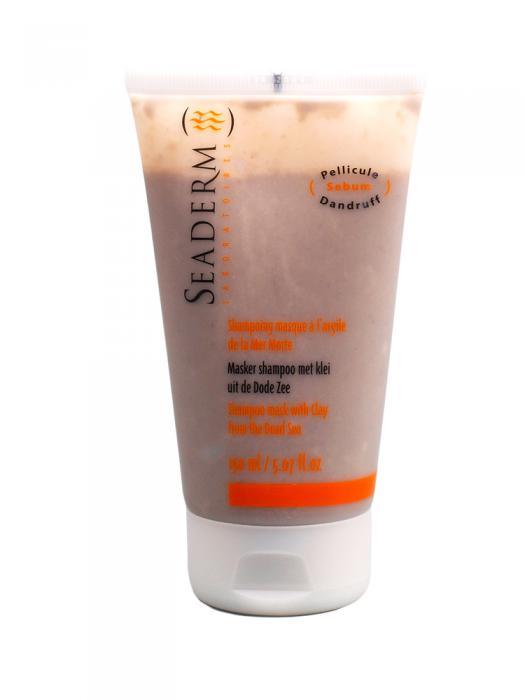 Sampon Masca Cu Argila Seaderm Pentru Par Gras-150 ml