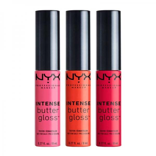 Set De 3 Luciuri De Buze Nyx Professional Makeup Intense Butter Gloss 06